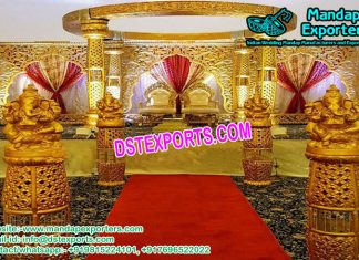 Fantastic Gold Theme Wedding mandap