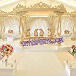 Wedding Celebration Wooden Mandap