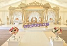 Wedding Celebration Wooden Mandap