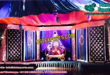 Indian Marriage Reception Stage Setup