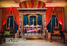 Attractive Gujarati Wedding Sangeet Decoration
