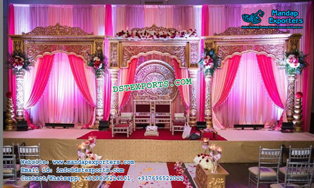 Awesome Bollywood Style Reception Stage Decor Mandap Exporters