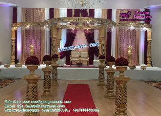 Charming Wedding Mandap Set Decor