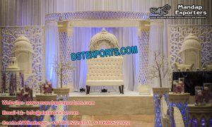 Dreamy Palazzo Crystal Mandap for Marriage