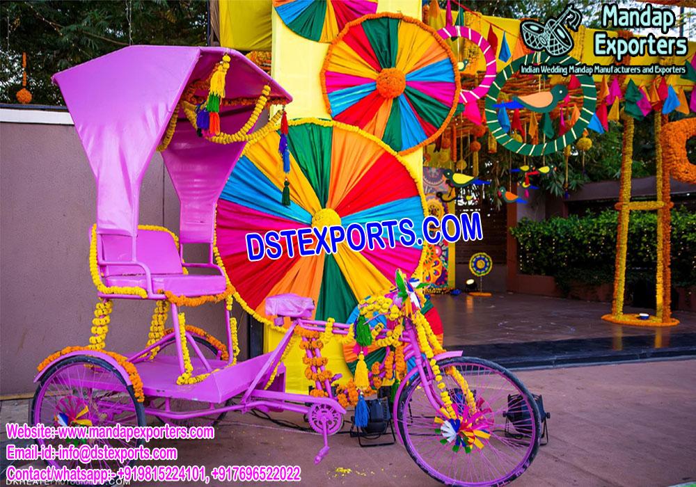 Desi Bridal Entry Rickshaw
