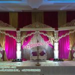 Elegant Devdas Pillar Wedding Stage