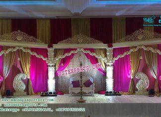 Elegant Devdas Pillar Wedding Stage