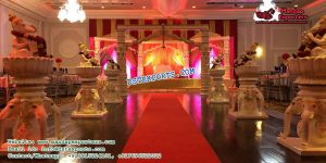 Elephant Theam Walkways With Ganesha Statues