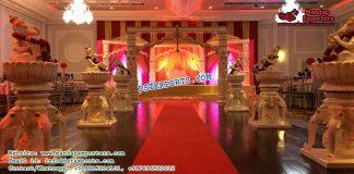 Elephant Theme Walkways With Ganesha Statues