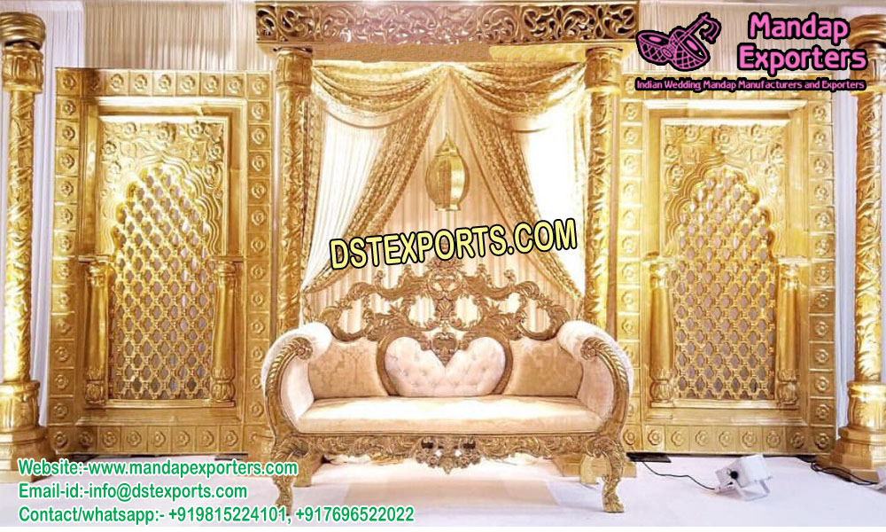 Glamorous Muslim Walima Stage Decor