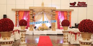 Glorious Devdas Pillars Wedding Mandapss