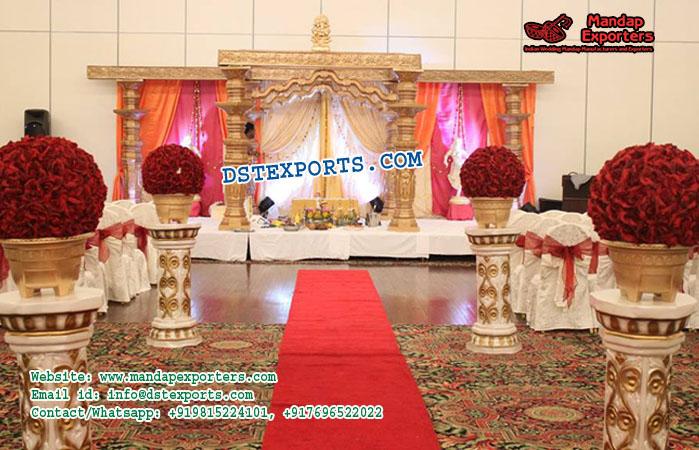 Glorious Devdas Pillars Wedding Mandapss