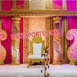 Golden Fiber Crystal Wedding Stage m