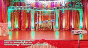 Gorgeous Crystal Pillar Palazzoo Wedding Stage
