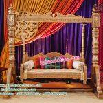 Grandiose Sangeet Stage Swing Decor