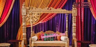 Grandiose Sangeet Stage Swing Decor