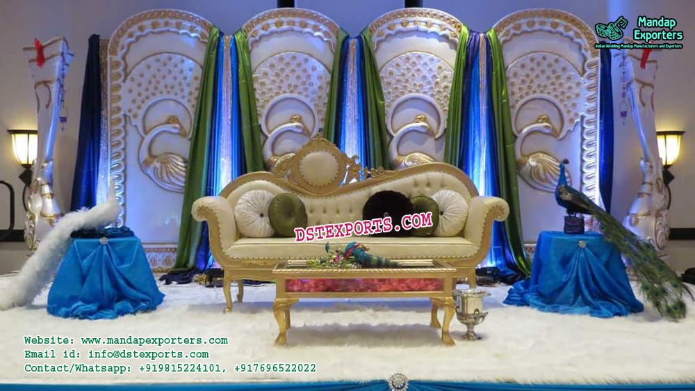 Imperial Wedding Backdrop Peacock Panels