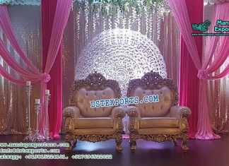 Luxurious Wedding Bride Groom Chairs