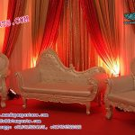 Luxurious Wedding Pearl White Sofa Set