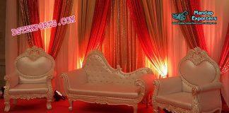 Luxurious Wedding Pearl White Sofa Set