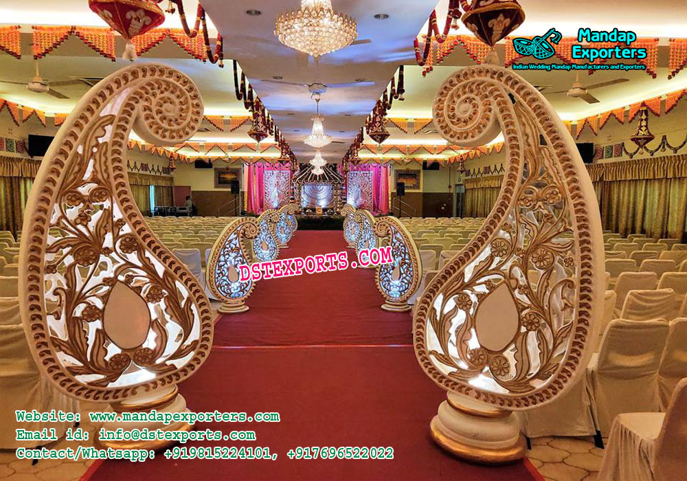 Marriage Reception Paisleys Walkway Decor