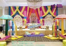 Muslim Walima Mehndi Stage Decoration