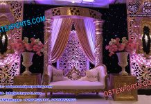 Nayab Walima Stage with Jhronka Panel