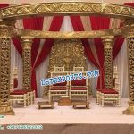 Precious Golden Look Fiber Wedding Mandap