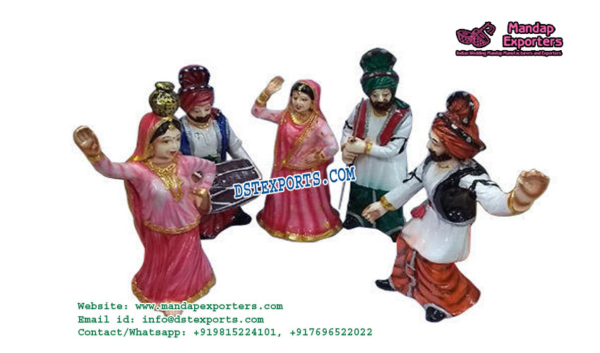 Punjabi Bhangra Table Centerpiece Statues
