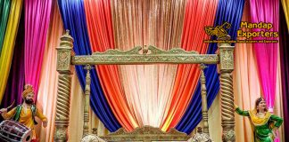 Punjabi Mehndi Stage Swing Decor