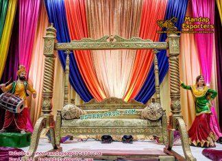 Punjabi Mehndi Stage Swing Decor