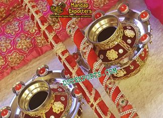 Punjabi Wedding Decorated Jagos With Stics