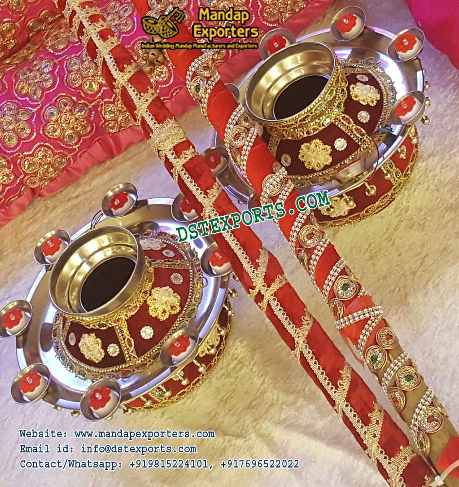 Punjabi Wedding Decorated Jagos With Stics