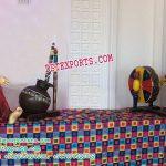 Punjabi Wedding Fiber Lady Statues