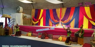 Punjabi Wedding Mehndi Night Stage Decor