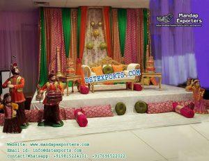 Punjabi Wedding Sangeet Stage Decorations