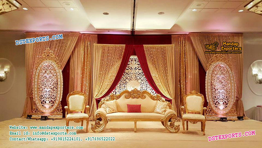 Splendid Engagement Wedding Stage Decor