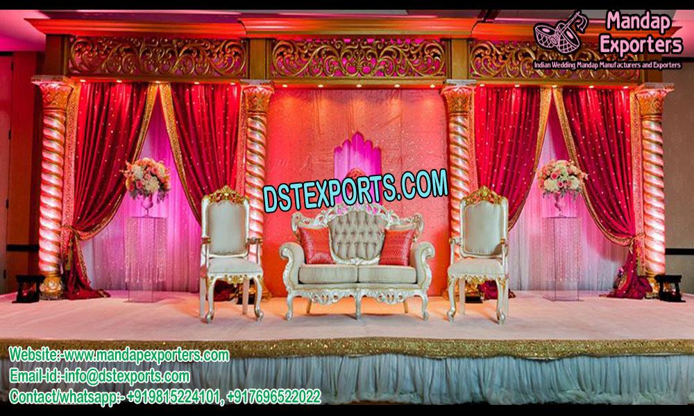 Stunning Spiral Pillar Wedding stage