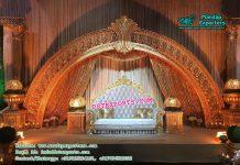 Stylish Half Moon Wedding Stage Decor