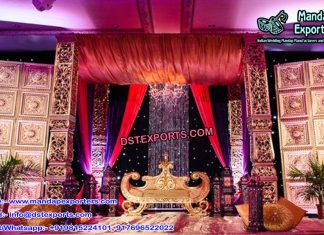 Ancient Asian Wedding Stage Decor