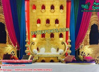 Arabic Muslim Wedding Stage Decor