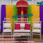Peacock Themed Wedding Mehandi Stage