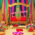 Trending Mehandi Stage Swing Decor
