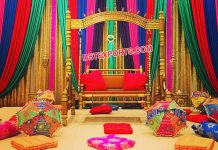 Trending Mehandi Stage Swing Decor