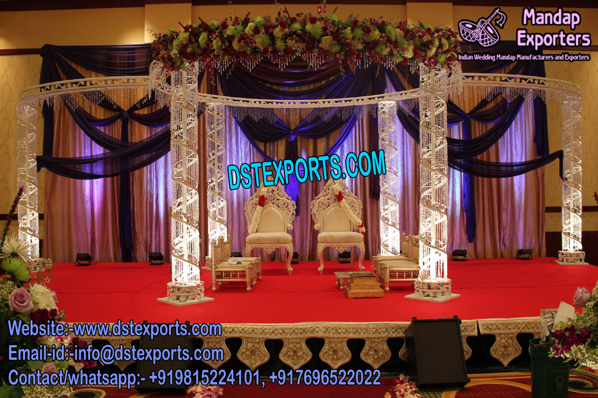 White Diamond Wedding Mandap