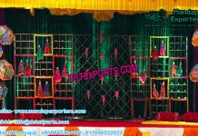 Marvelous Mehandi Stage Candle Wall Decor