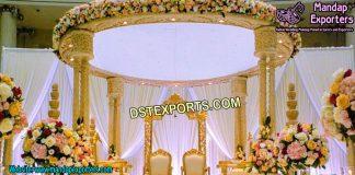 Traditional Triple Pillar Mandap