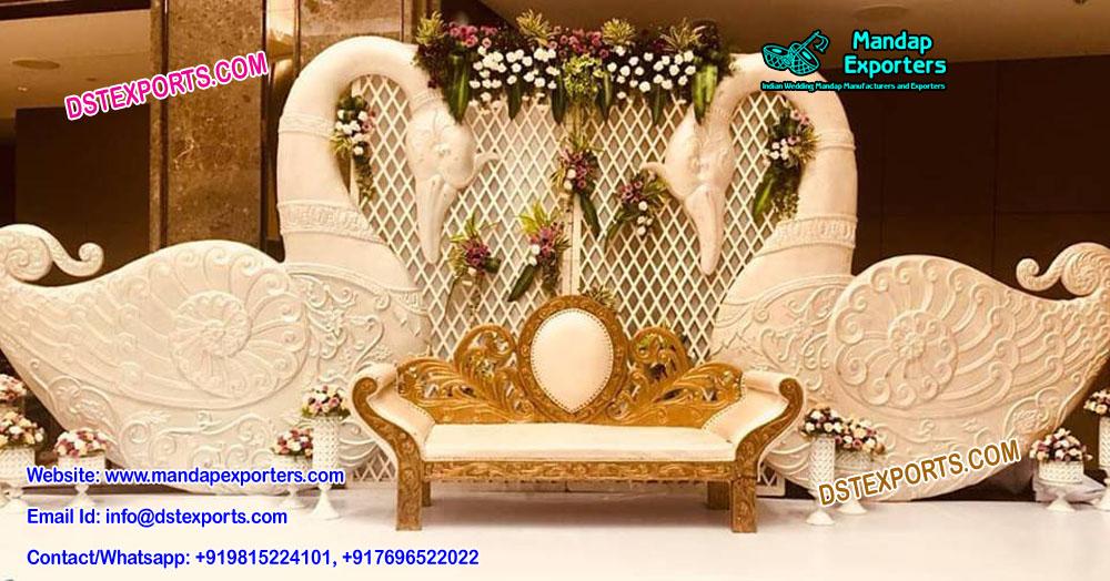 Asian Wedding Swan Stage Setup