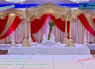 Decorative Indian wedding Wooden mandap