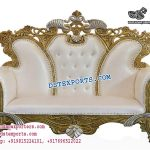 Designer Muslim Wedding Metal Carved Sofa